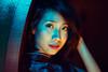 Blue (Jon Siegel) Tags: nikon d810 nikkor 85mm 14 nikon85mmf14 woman girl beautiful smiling smile portrait evening night sumyitai monalounge blue asia chinatown singapore cinematography wongkarwai people