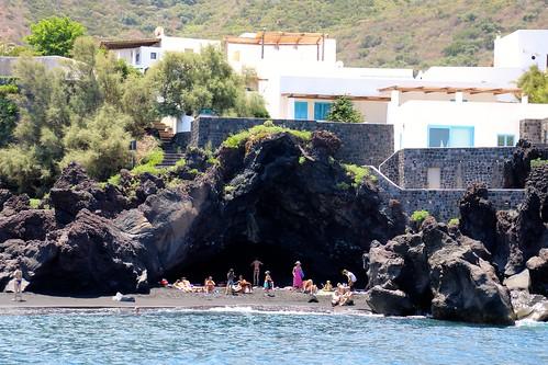 Île de Stromboli / Côte nordt - village de Piscita