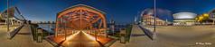 360 Grad Panorama (Klaus Kehrls) Tags: hamburg hamurgerhafen elbe panorama nachtaufnahme theateramhafen musicaltheater brücken