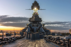 Battleship Texas (RaulCano82) Tags: battleship texas tx ship military sunset artillery canon canons chains raulcano houston htx htown houstontx hou houstontexas battleshiptexas