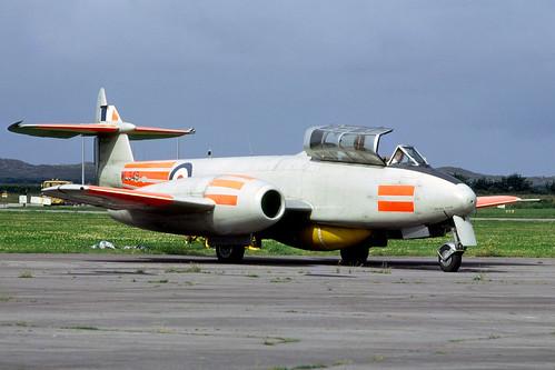Gloster Meteor T7 WL349 Chivenor 5-8-72