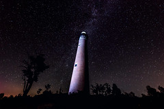 Little Sable Point Lighthouse (charissa1066) Tags: lighthouse michigan lakemichigan stars milkyway puremichigan astrophotography lightpainting