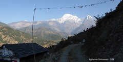 P1100970 Looking back towards Landruk and Annapurna (ks_bluechip) Tags: nepal trek dec2016 annapurna abc mbc landruk tolga pitamdeorali pothana