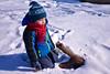 Snow and preschooler