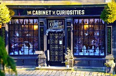 The Cabinet of Curiosities (rustyruth1959) Tags: nikon nikond3200 tamron16300mm yorkshire haworth westyorkshire thecabinetofcuriosities apothecary druggists shop windows outdoor cobbles door entrance decorations text