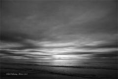 Low Tide (rhfo2o - rick hathaway photography) Tags: rhfo2o canoneos7d canon elmer elmersands westsussex beach sea seaside sand sky clouds waves sun light reflection ripples lowtide bw blackandwhite mono empty thebigempty