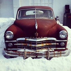 Rusted Antique Dodge In The Snow (Joe Shlabotnik) Tags: galaxys5 instagram january2016 dodge antiquecar cameraphone rust 2016 faved