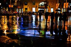 Black Rain (Sergi_Escribano) Tags: barcelona sergiescribano streetphotography barcelonastreetphotography rain storm bold colors streetsofbarcelona streetshot night noircity nocturnal reflection