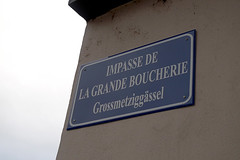 Metzgergasse (claudipr0) Tags: france frankreich alsaceelsass strasburg strasbourg sign strasenschild