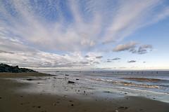 Happisburgh Beach [28/365 2017] (steven.kemp) Tags: happisburgh lighthouse sea beach coast water cloud sky winter afternoon norfolk scenery seascape horizon