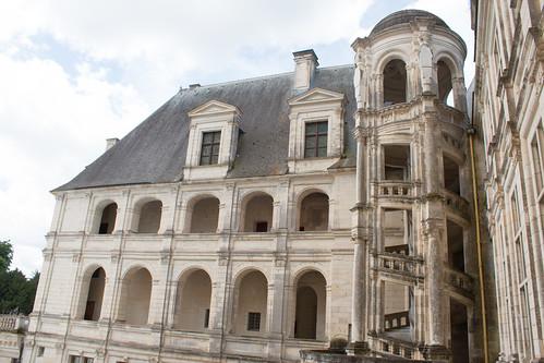 Escalier hélicoïdal extérieur, Château de Chambord
