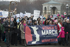 Women's march against Donald Trump (Fibonacci Blue) Tags: stpaul protest march woman women demonstration event dissent feminism outcry feminist activism outrage twincities activist minnesota trump republican people crowd banner gop liberal