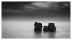 Contemplation (picturedevon.co.uk) Tags: meadfoot beach torquay torbay englishriviera devon england uk bw blackandwhite seascape fineart minimal weather sea water sky clouds le longexposure coast grey seagull nisi ndfilter canon david hixon