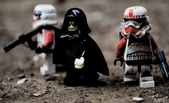 Palpatine (RagingPhotography) Tags: lego star wars emperor palpatine shock troopers stormtroopers gritty photography outside dirt ragingphotography