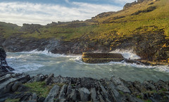 Over The Top (NVOXVII) Tags: stormy waves coast sea spray rocks landscape cornwall boscastle nature nikon wall brickwork tide