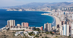 Benidorm. (CWhatPhotos) Tags: benidorm spain spanish resort costa blanca photographs photograph pics pictures pic picture image images foto fotos photography artistic cwhatphotos that have which with contain em10 omd olympus esystem four thirds digital camera lens olympusem10 mk ii 43 mft micro seaside holiday february 2017 beach life view poniente levante beaches from cross wide angle natural park sierra helada thehill mountain icemmountain ice
