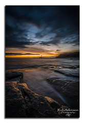 Let there be light (R0BERT ATKINSON) Tags: rock northumberlandcoast northeastcoast northeastengland robatkinsonphotography sigma1020 sunrise sea clouds oldhartley whitleybay stmaryslighthouse sky nikond5100 leefilter