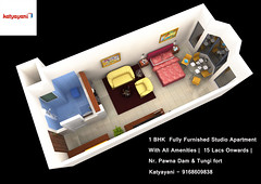 Katyayani (propkatrealty) Tags: 1bhk fully furnished studio apartment with all amenities |15 lacs onwards | nr pawnadam tungifort katyayani 9168609838 lonavala pune mumbai