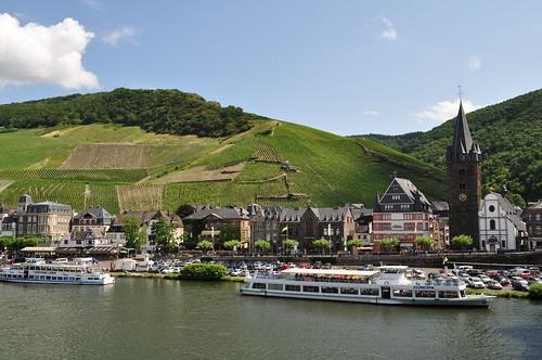 La Moselle à Bernkastel, commune de Bernkastel-Kues, landkreis de Bernkastel-Wittlich, Rhénanie-Palatinat, Allemagne.