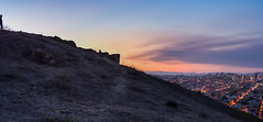 home alone (pbo31) Tags: sanfrancisco california city sunset summer panorama color silhouette nikon view traffic over large panoramic september bernalheights stitched 2015 lightstream boury bernalhillpark pbo31 d810