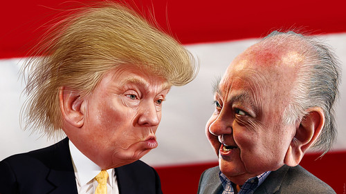 Donald Trump and Roger Ailes