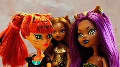 Wonderfully Weird Werecon (Allan Saw) Tags: monster werewolf toy scary doll mh werecat monsterhigh clawdeenwolf toraleistripe