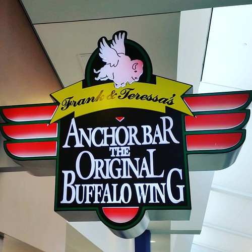 Buffalo's Anchor Bar, home of THE original buffalo wild wing! I ate 15 - could have eaten twice that! Excellent!