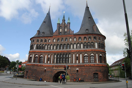 Jun 18: first bike day and first city visited: Lübeck and it's famous Holstentor