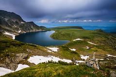 Mahabur (  | Svetlozar ) Tags: sky mountain lake clouds stones meadow rila