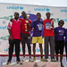 Winners of Mens race at the Great Ethiopian Run  in Afar with Honourable guests