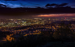 Stuttgart Illumination (gporada) Tags: city sunset skyline night germany deutschland cityscape sonnenuntergang nightshot stuttgart nacht outdoor wideangle bluehour dmmerung canoneos dri hdr daimler blending rotenberg coucherdusoleil blauestunde weitwinkel badenwrttemberg nightimage exposurebracketing belichtungsreihe stuggi stuttgartrotenberg stuttgartuntertrkheim world100f canon600d phvalue canoneosrebelt3i efs1018mmf4556isstm gporada