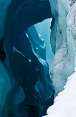 50 shades of blue (dragonguitar) Tags: blue wild usa snow ice nature alaska tunnel natura cage glacier neve root grotta ghiaccio kennecott ghiacciaio