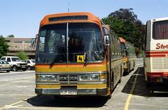 B02265D Dorchester Coachways DT HJP482V Salisbury 22 Jul 95 (Dave58282) Tags: bus dt hjp482v dorchestercoachways