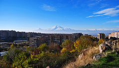 Ararat from Yerevan, Armenia. (daniel2085) Tags: autumn mountain mount armenia sis yerevan masis ararat