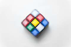 Rubik's cube (cvaknute.cz) Tags: white color cube block minimalism rubik backgroud odclonenofmbarva