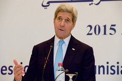 Secretary Kerry Speaks at a News Conference at the Ministry of Foreign Affairs in Tunis (U.S. Department of State) Tags: tunisia tunis johnkerry taiebbaccouche
