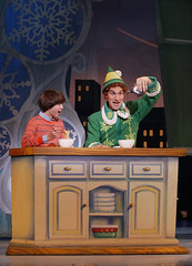 (L to R) Harper S. Brady and Daniel Patrick Smith from the Elf The Musical tour company presented by Broadway Sacramento at the Community Center Theater Nov. 6 – 15, 2015. Photo by Chris Bennion.