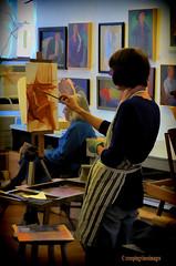 The Painter (creepingvinesimages) Tags: virginia nikon artist painter charlottesville topaz autofocus mcguffeyartcenter d7000 pse11