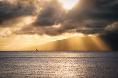 Find Me Gone (ShutterJack) Tags: ocean sunset sea vacation sun seascape clouds fun hawaii nikon ray peace getaway wave maui shore sail leisure sunray pastime jameshale salilboat jimhale shutterjack