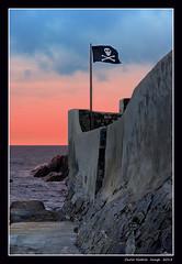 A flag as deterrent (cienne45) Tags: italy boat village fishermen liguria cienne45 carlonatale genoa zena carlo boca natale boccadasse pescatori genovaboccadasse villageboccadasse spiritofphotography daz bocadaz