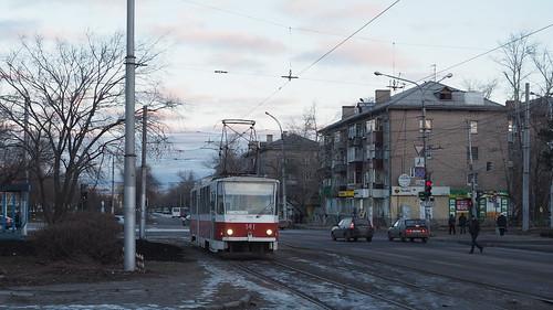 Lipetsk tram Tatra T6B5SU 141 NLMK