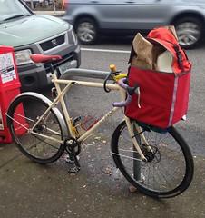A 12 pack, two grocery bags, and a gallon of milk (Tysasi) Tags: gt talera 650b randonneuse randonneur bike fixie fixedgear cargobike shopping sweetfixie