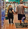 Lean On Me.... (Busy Packing-Sorry 4 Not Commenting!) Tags: flickrfriday youllneverwalkalone shopping food wholefoods woman man leg disabeled