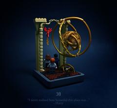 30 - The White Tomb (Melan-E) Tags: harry potter half blood prince hogwarts astronomy tower dumbledore ron hermione lego afol toronto torolug fawkes phoenix