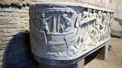Jonah's ship on a stormy sea, Santa Maria Antiqua Sarcophgus