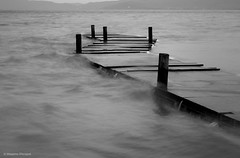 Pier (Massimo_Discepoli) Tags: pier water motion monochrome trasimeno geometry landscape lake beautiful