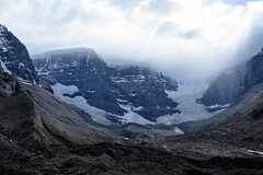 Columbia Icefield (Patricia Henschen) Tags: columbiaicefield icefield glacier icefieldcenter jaspernationalpark banffnationalpark icefieldsparkway alberta canada parks parcs nationalpark rockies canadianrockies canadian northern mountains clouds athabasca