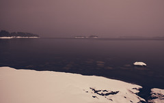Still Ocean (Bunaro) Tags: quiet sea night ocean fresh snow beach winter eerie calm helsinki suomi finland uutela vuosaari