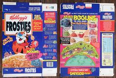 1994 Kellogg's UK Frosties Boglins cereal box (gregg_koenig) Tags: 1994 kelloggs uk frosties boglins cereal box 1990s boglin mini premium tony tiger frosted flakes