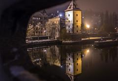 Prague nocturno... (toncheetah) Tags: prague praha night nocturno viewfromabridge water reflection praga flickrtravelaward